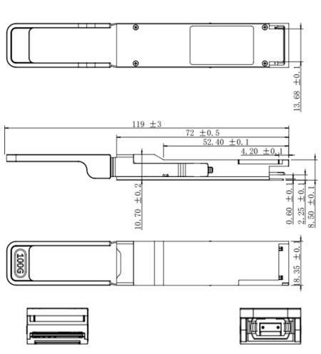 QSFP28 оптические кабели