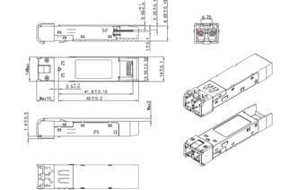 Размеры оптического трансивера сфп